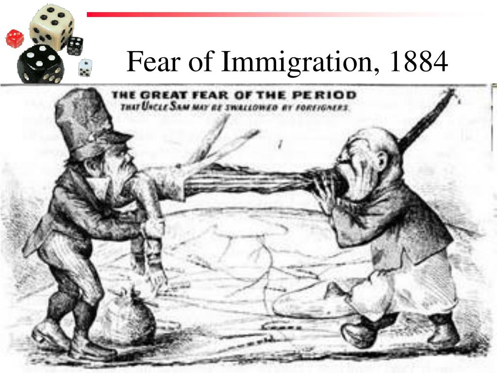 Fear of Immigration, 1884