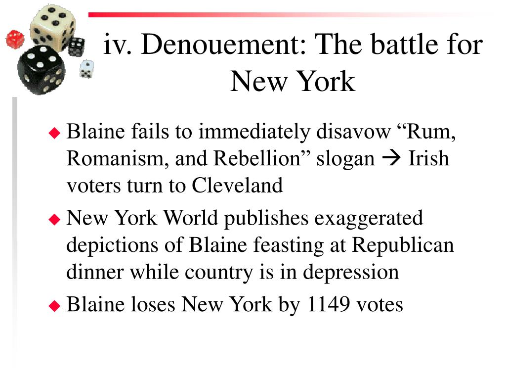 iv. Denouement: The battle for New York