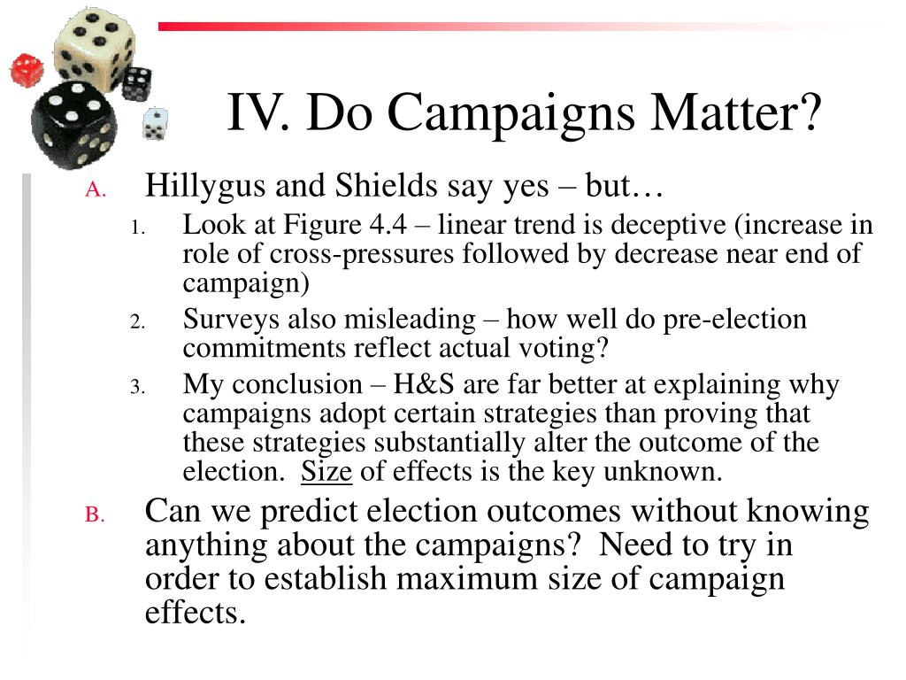 IV. Do Campaigns Matter?