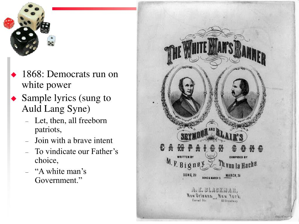 1868: Democrats run on white power