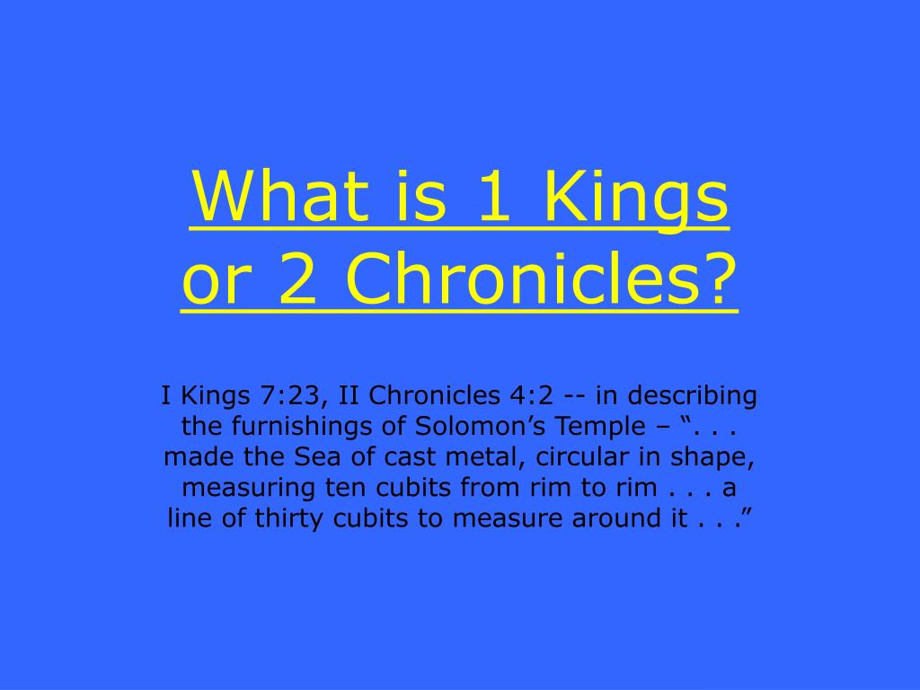 What is 1 Kings or 2 Chronicles?