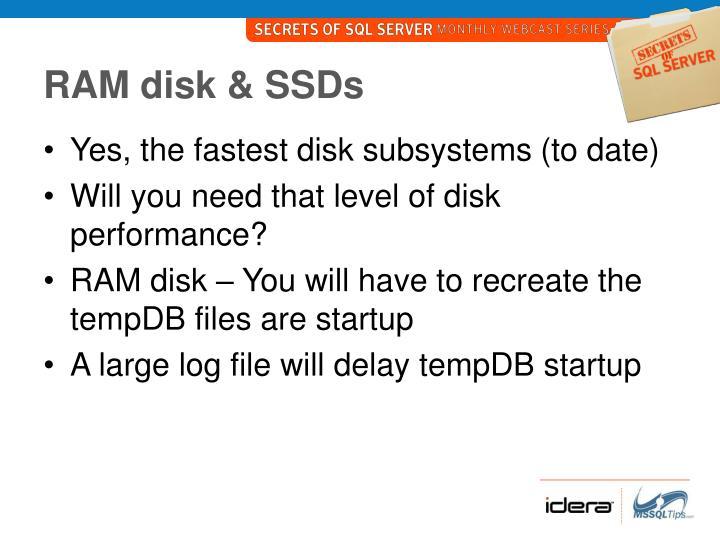 RAM disk & SSDs