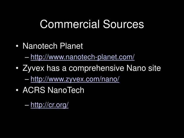 Commercial Sources