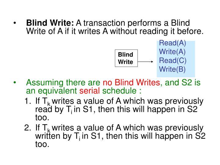 Blind Write: