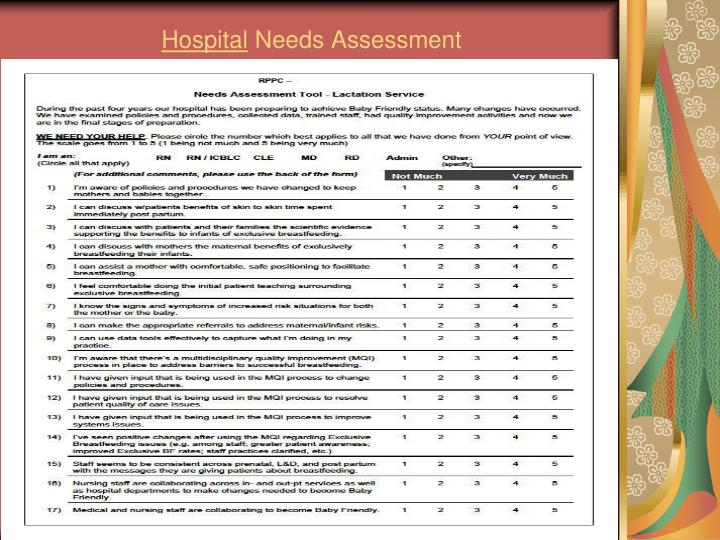 needs assessment for quality improvement essay Patient safety/quality care/improvement case study essay  systems needs improvement 9 improve customer  assessment under project.