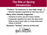 the rite of spring introduction