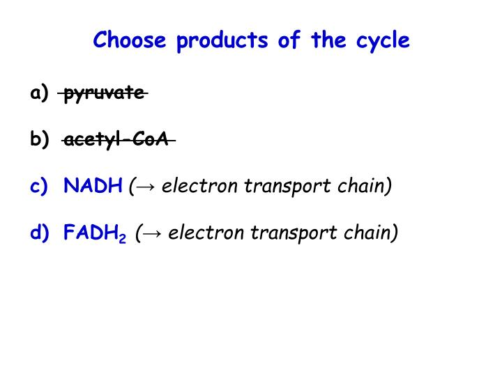 Choose products of the cycle