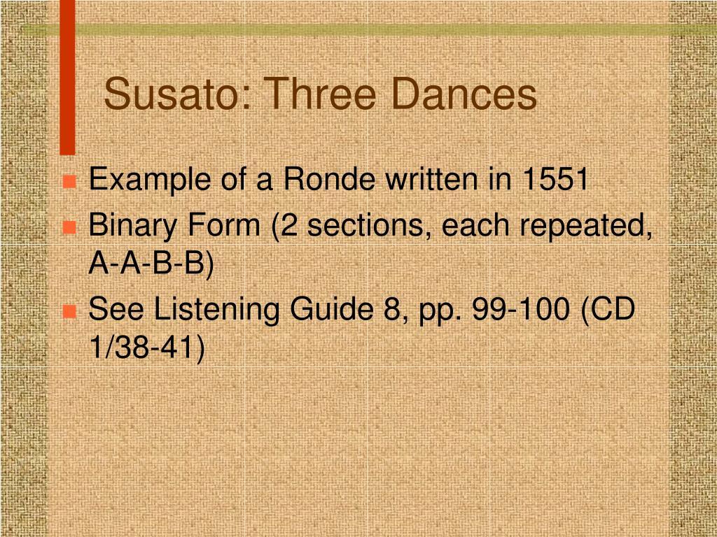 Susato: Three Dances
