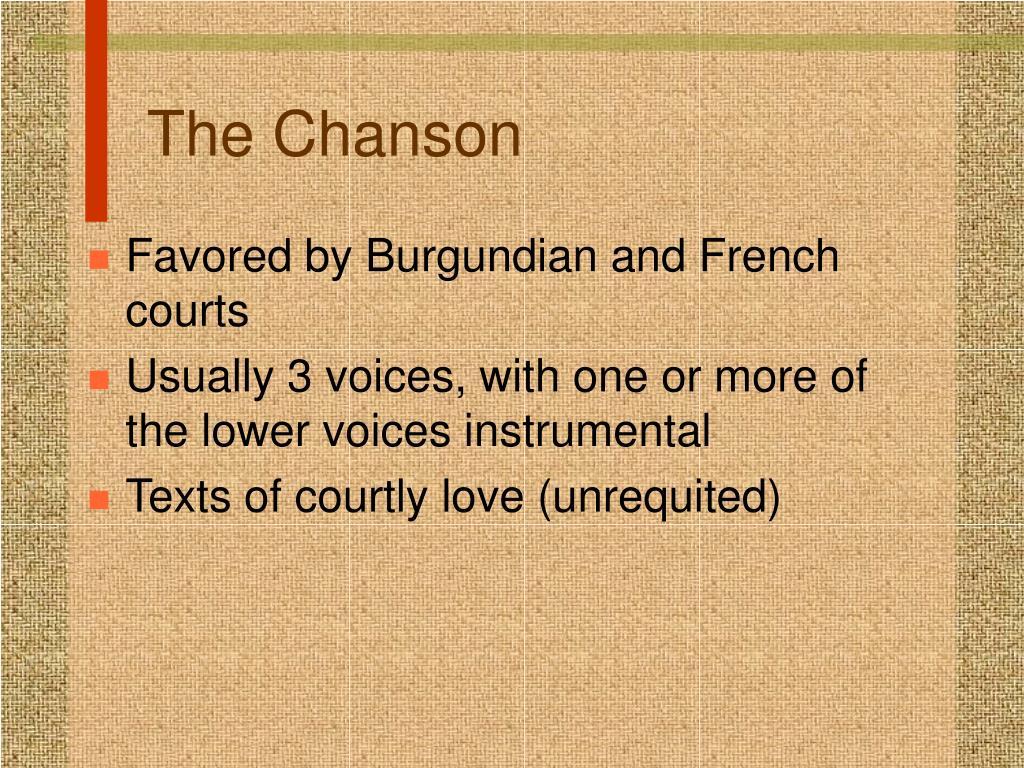 The Chanson