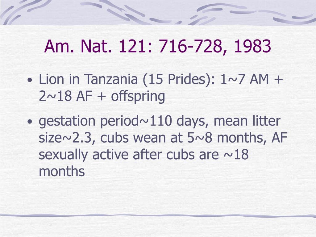 Am. Nat. 121: 716-728, 1983
