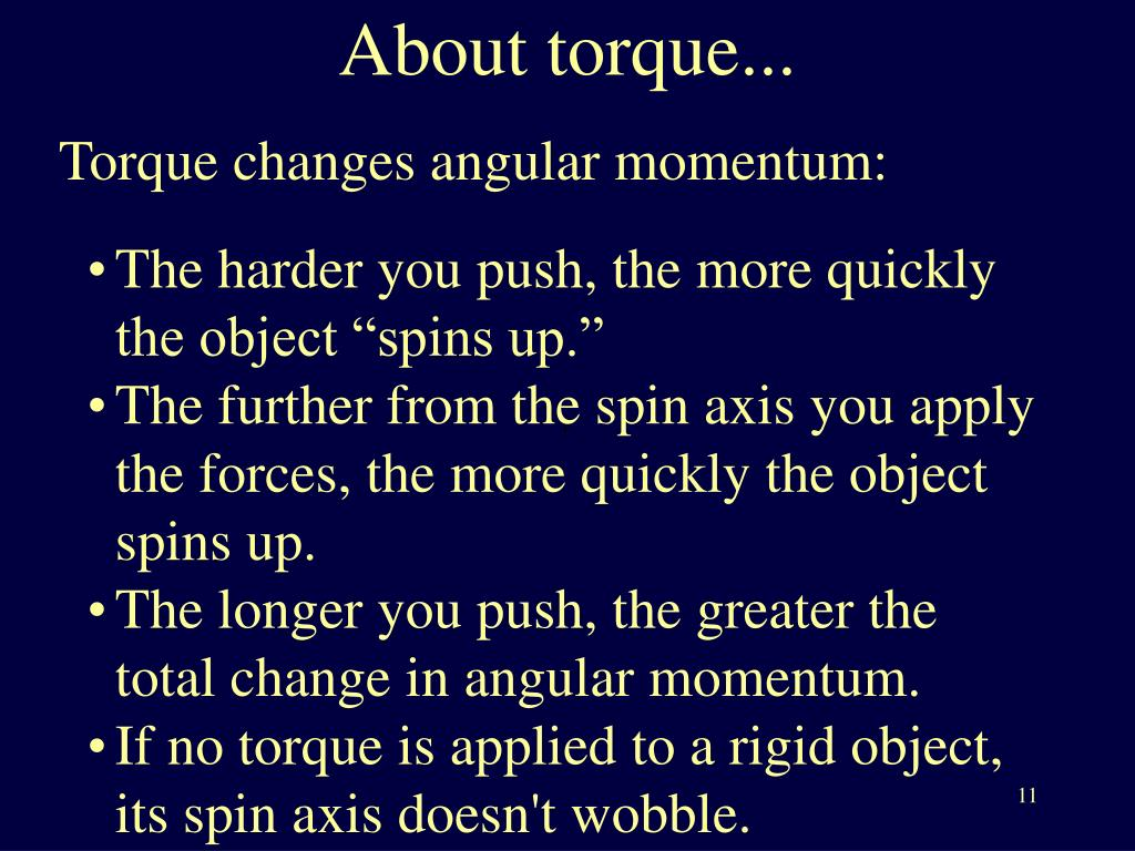 About torque...