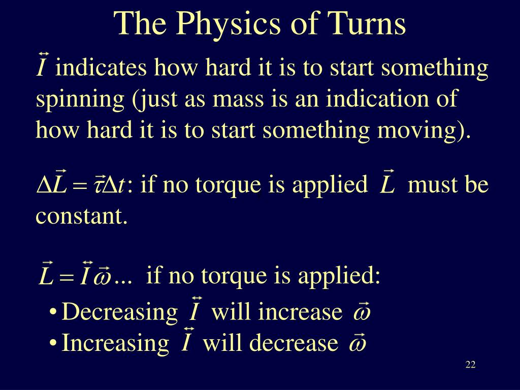 The Physics of Turns