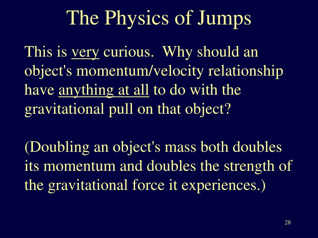The Physics of Jumps
