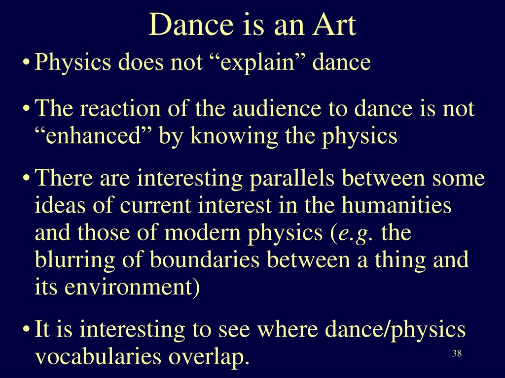 Dance is an Art