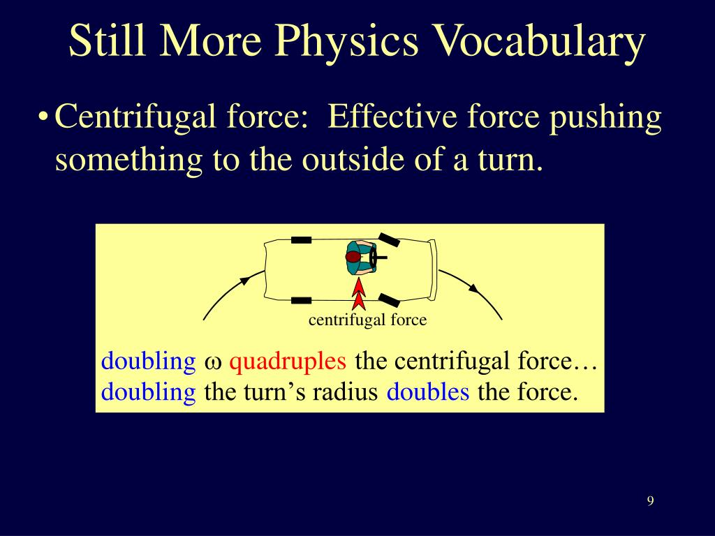Still More Physics Vocabulary