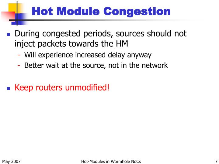 Hot Module Congestion