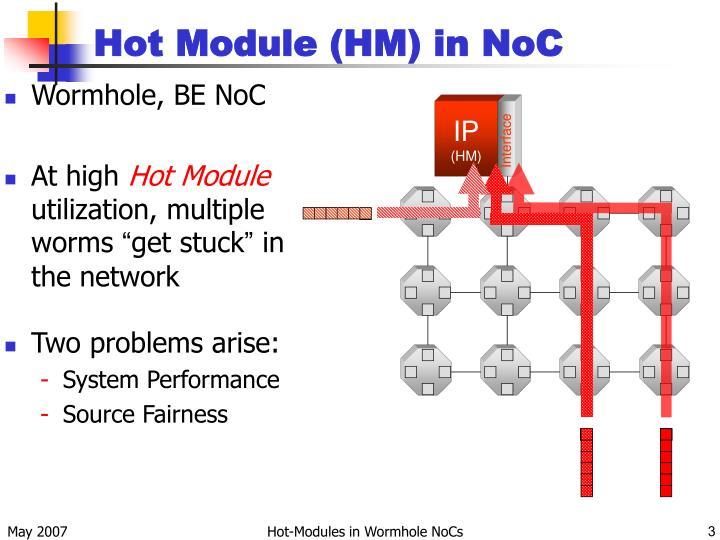 Hot Module (HM) in NoC