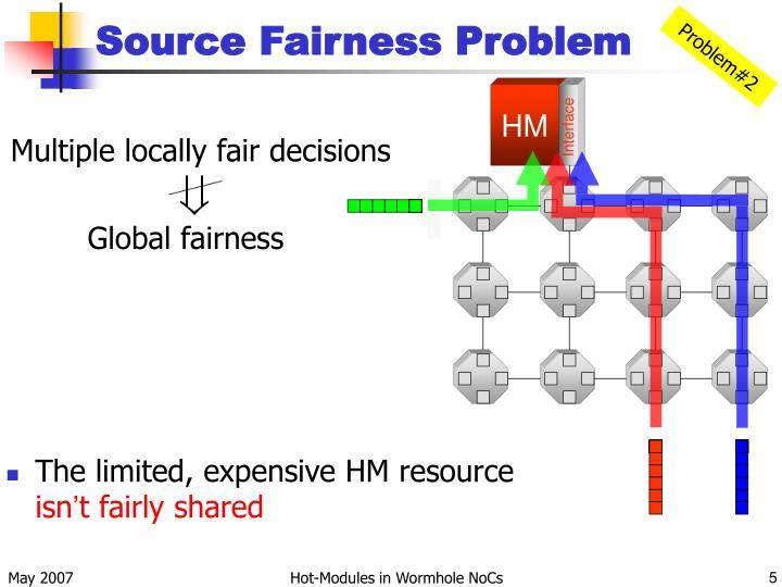 Source Fairness Problem
