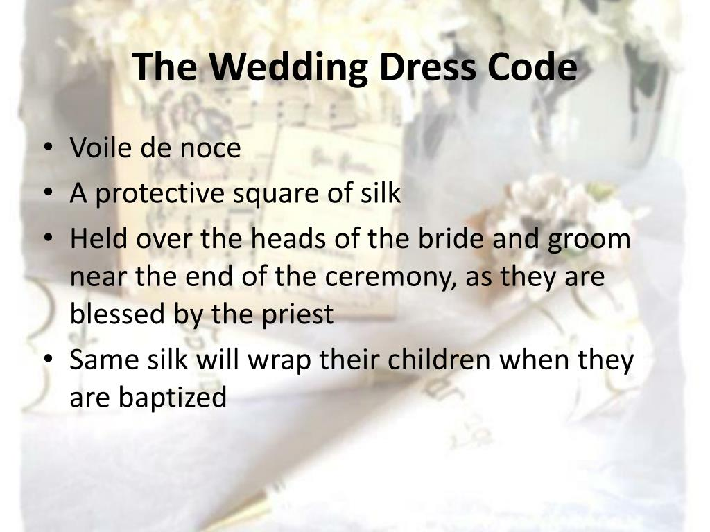 The Wedding Dress Code