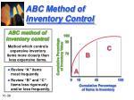 abc method of inventory control