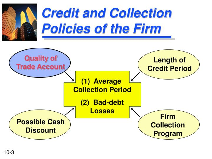 Credit and collection policies of the firm