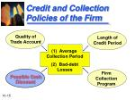credit and collection policies of the firm2