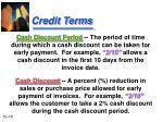 credit terms1