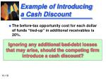 example of introducing a cash discount1
