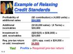 example of relaxing credit standards2