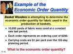 example of the economic order quantity