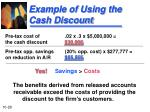example of using the cash discount1
