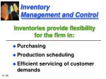 inventory management and control1