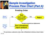 sample investigation process flow chart part a