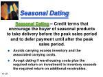 seasonal dating