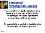 sequential investigation process