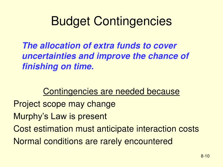 Budget Contingencies