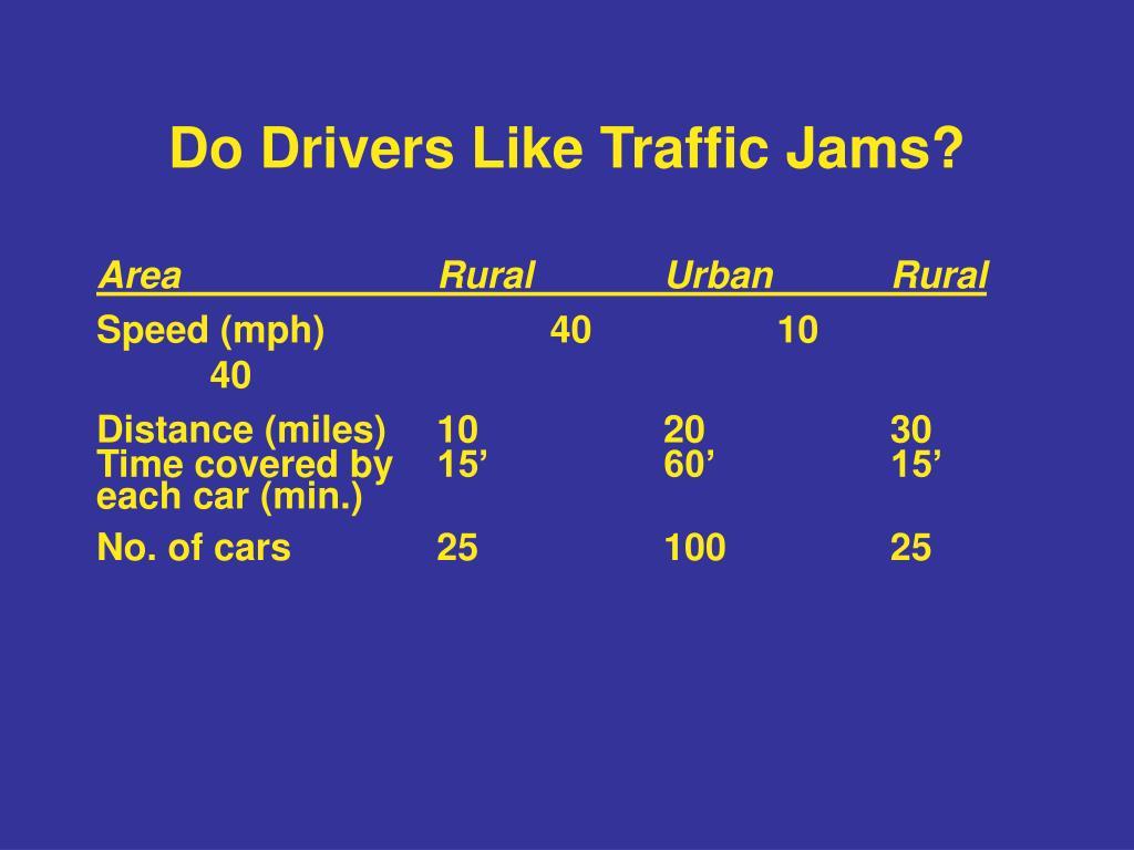 Do Drivers Like Traffic Jams?