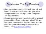 conclusion the big question