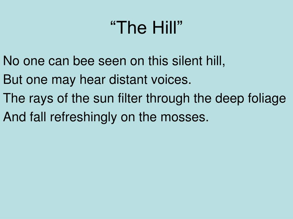 """""""The Hill"""""""