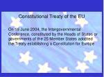 constitutional treaty of the eu