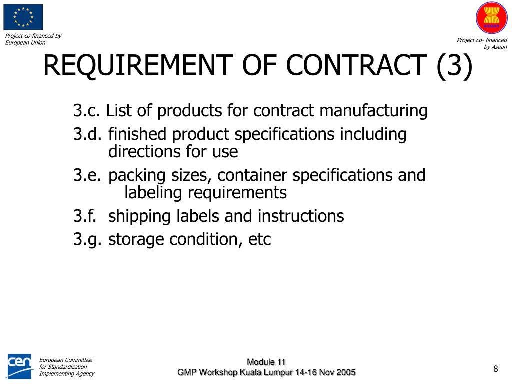 REQUIREMENT OF CONTRACT (3)