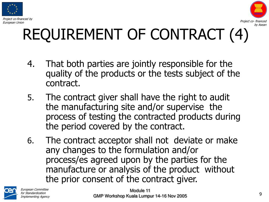 REQUIREMENT OF CONTRACT (4)