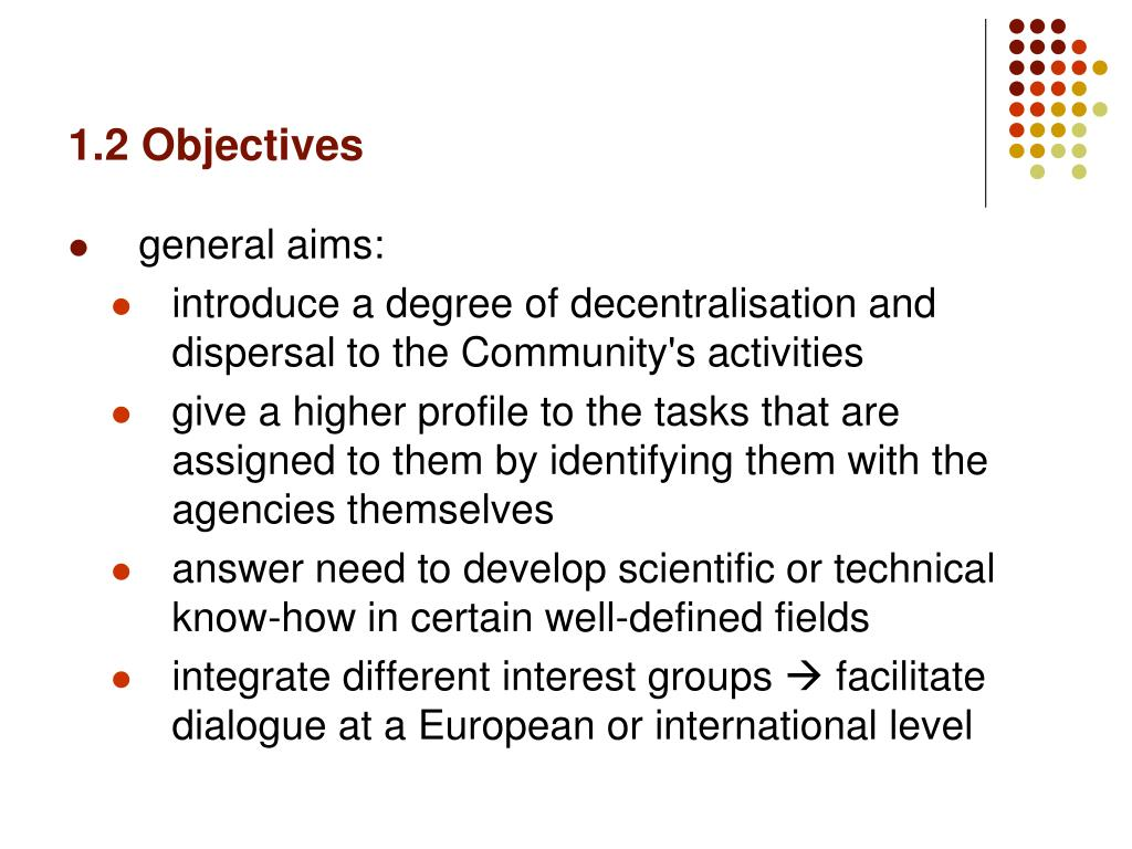 1.2 Objectives