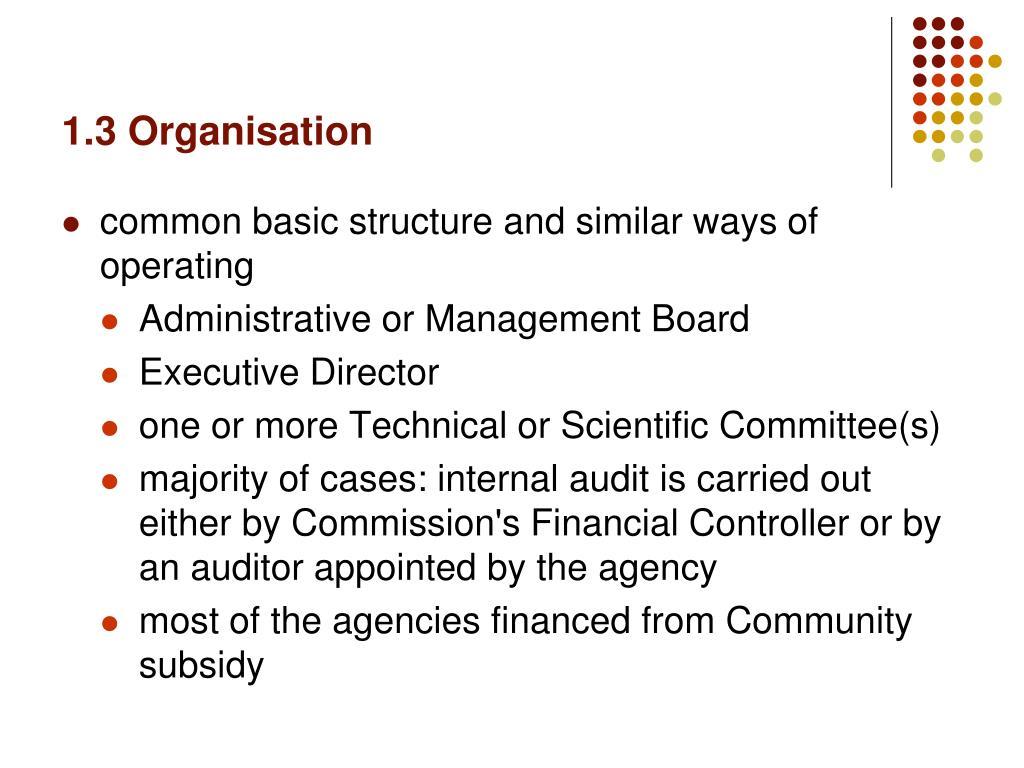 1.3 Organisation