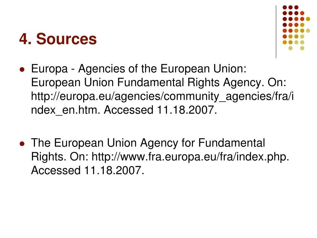4. Sources