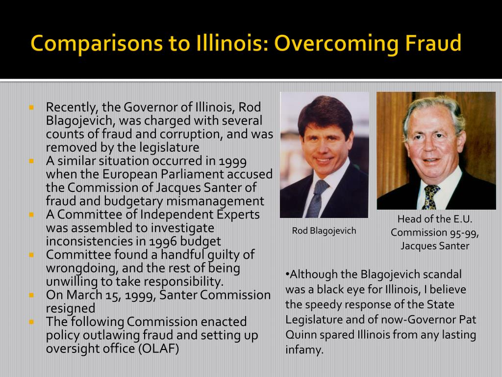 Comparisons to Illinois: Overcoming Fraud