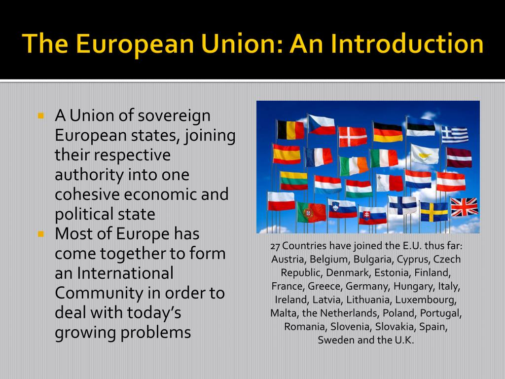The European Union: An Introduction