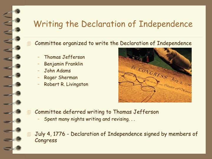 Essay about the declaration of independence