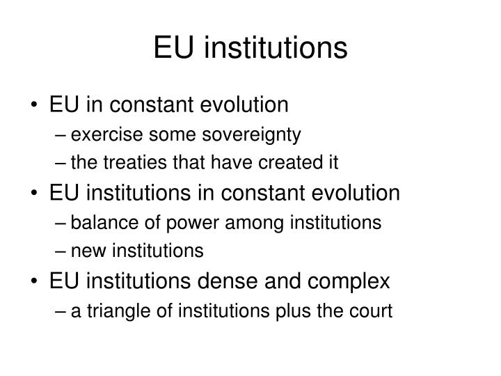 Eu institutions
