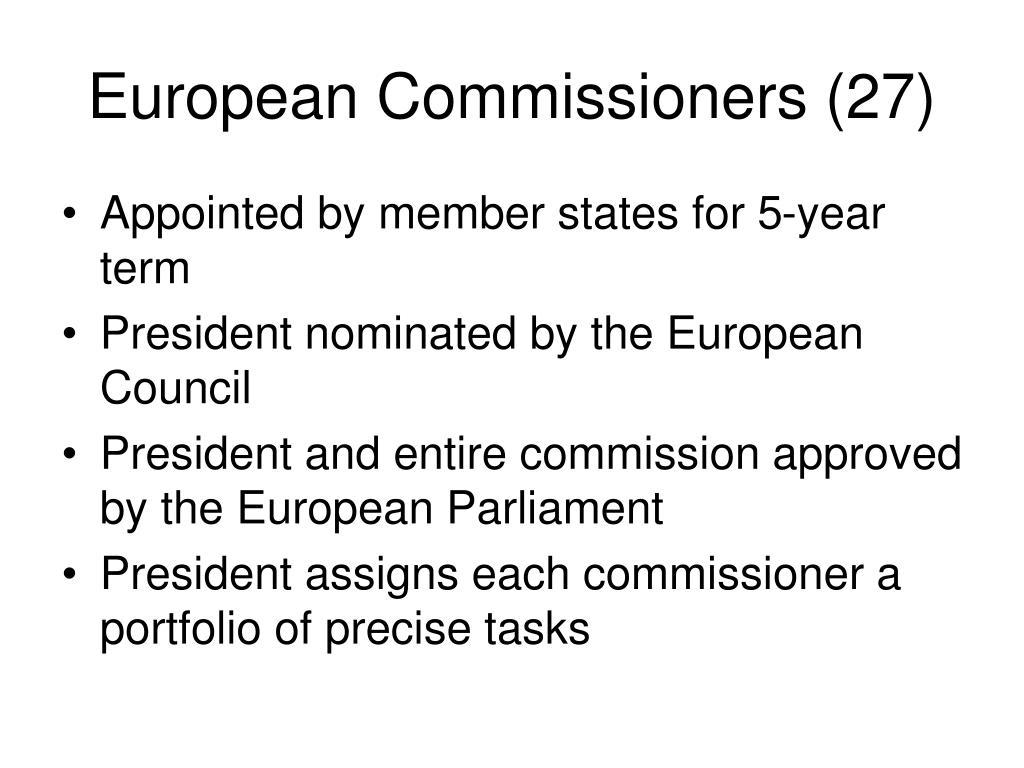European Commissioners (27)